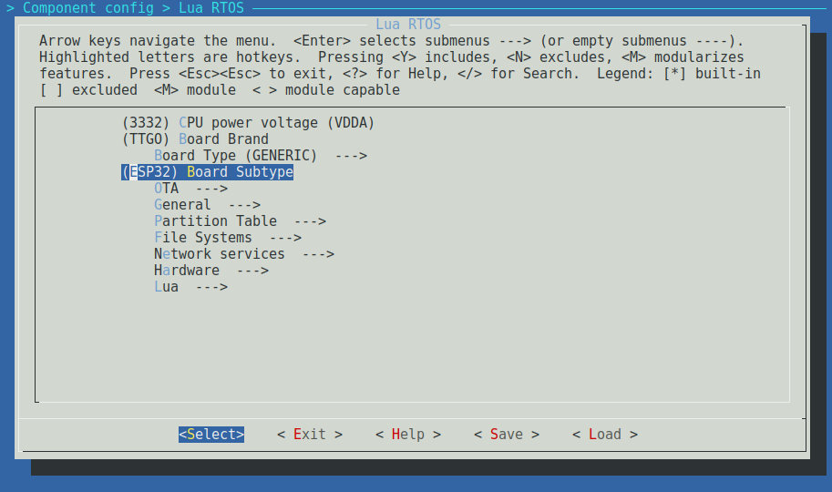 blog :: Porting LuaRTOS to the TTGO LoRa32 Board